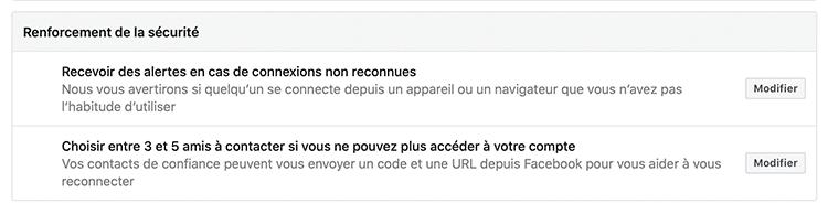alertes Facebook