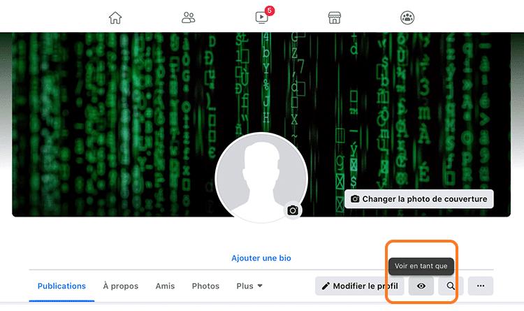 voir son profil Facebook en tant que